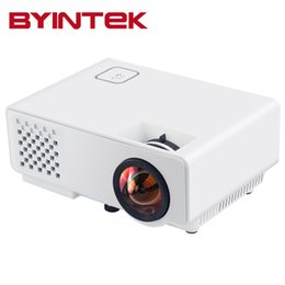 Wholesale Cheap Digital Video - Wholesale-Home Theater Pico Byintek ML218 Cheap Digital HD 1080P mini Portable HDMI USB LCD LED Video Projector Beamer Projetor Proyector