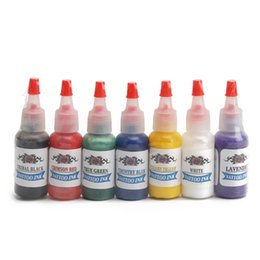 Wholesale X Tattoo Ink - Wholesale-Hot Sale 15ml x 7Colors Professional Tattoo Inks Pigment High Quality Body Tattoo Art Colors Paint Art Supply