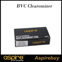 Wholesale Aspire Bdc Coils - 100% Authentic Aspire Aspire BVC Coils Dual Coils for Aspire CE5 CE5-S ET ET-S Clearomizer BDC updated coil Electronic Cigarette