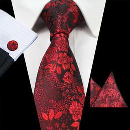 Wholesale Mens Necktie Pattern - Men tie Set Mens Suit Necktie Pocket Square Towel Tie flower pattern classic tie free to add a trademark