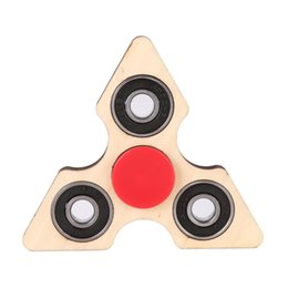 Wholesale Focus Angle - 3 Angle Wooden Fidget Hand Spinner Triangle DIY Wooden Puzzle Finger Toy EDC Focus Toys ADHD Austim Learning &Educational Toy