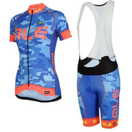 Wholesale Short Sleeve Woman Cycling Jersey - 3 Styles ! Camouflage Ale Women's Pro Cycling Jersey Set. Short Sleeve Bicycle Cycling Clothing + Bib Shorts Bike Wear Ropa Ciclismo Mtb.