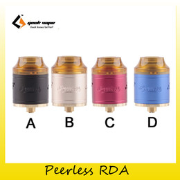 Wholesale Dual Hole - Authentic Geekvape Peerless RDA Tank Original Build Deck Design Creative Build Deck 9-holes Side Airflow System Both Single and Dual Coil