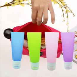 Wholesale Shampoo Tubes Wholesale - Wholesale- 38ML 80ML Cute Mini Travel Silicone Packing Bottle Lotion Shampoo Tube Container Storage Bottles IC674579