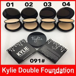 Wholesale Face Press - Kylie Pressed Face Powder Foundation Double Layer Bronzer Brands Kylie Jenner Cosmetics Face Makeup 4 Colors 30G High Quality