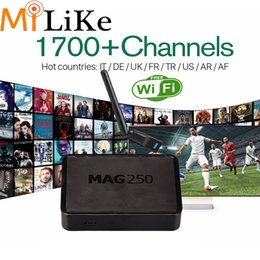 Wholesale with IUDTV iptv subscription Linux iptv set top box mag250 arabic streaming sports News for French Sweden Swizerland Albanian Italian