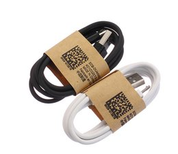 Wholesale Hot Line Phone - Hot sale 1m 3Ft white black color micro V8 5pin usb data charging cord line wire for samsung s4 s6 s7 edge for phone 5 6 7 plus