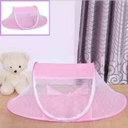 Wholesale Toddler Travel Beds - Wholesale-summer infant baby crib netting portable foldable baby bed mosquito net outdoor travel bed mosquito netting for 0-1 year toddler