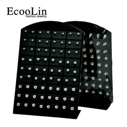 Wholesale Flower Displays - 72Pcs Wholesale Jewelry Nnice Retro rock iron ball Stainless Steel Ball Stud Earrings Bulk Lots Comprising Display Boards LR282