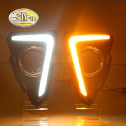 Wholesale Lights For Toyota Rav4 - SNCN LED Daytime Running Light For Toyota RAV4 RAV 4 2016 2017,Car Accessories Waterproof ABS 12V DRL Fog Lamp Decoration