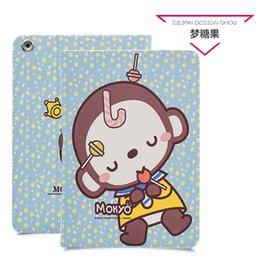 Wholesale Monkey Cute Case - For ipad 2 3 4 case, ultra-thin fashion cute monkey PU leather wrestling sets ipad 2 3 4 cases