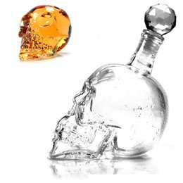 Wholesale Beer Decanter - Skull Drinking Glasses Vodka Whiskey Shot Creative Style Drinking Bottles Home Bar Glasses Drink Cocktail Beer Crystal Cups