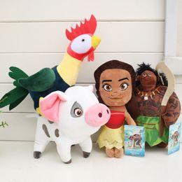 Wholesale Wholesale Stuffed Animals For Babies - Hot Selling Moana Pua Heihei Mauli Waialik Plush Doll 4pcs lot plush toys Stuffed Animals Toy For Baby promotional Gifts Free shipping