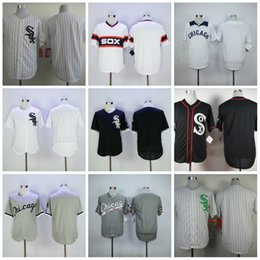 Wholesale Blank Baseball Shirts - Baseball Jerseys Boston White Sox Blank Jersey Shirt Home Road Away White Blue Red Grey Flexbase Cool Base Stitched