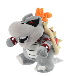 Wholesale Dragon Children - 22-24cm Super Mario Bone Kubah Dragon Koopa Broswer Plush Toy Children Cartoon Soft Plush Stuffed Dolls for kids