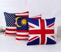 Wholesale Design Velvet Fabric - Flag pillowcase Cushion Cover Decorative Pillow Cover Sofa Bed Car Office Café 43*43cm 3 design options
