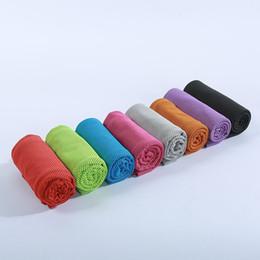 erwachsene bärentuch Rabatt 8 farben sommer sport eiskalt handtuch kühltuch doppel farbe hypothermie handtuch 30 * 90 cm für sport großhandel 17-28