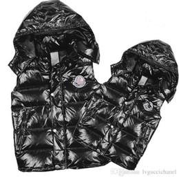 Wholesale Feather Down Vest - Wholesale Classic Men and women brand winter down vest feather weskit jackets womens casual vests coat outer wear size:S-XXXL