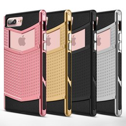 Wholesale Iphone Rubber Shell Case - Anti-slip Shockproof Armor Protective Defender Case Shell Slim Fit Non-slip Grip Rubber Bumper Case Cover for iPhone 6 6s Plus 7 7 8 Plus