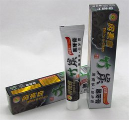 white bamboo charcoal Promo Codes - 2017 new charcoal toothpaste white and clean whitening black toothpaste bamboo oral hygiene tooth paste high quality by dhl