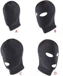 SM Fetish Bondage Restraint Mask Expose Mouth Eyes Эротические Секс-игрушки Головные Уборы Взрослый Slave Game Hogtie Head Cap для пар от Поставщики качественные покрывала