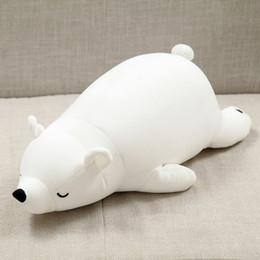 2019 doraemon plush Urso Branco Urso Polar 30 centímetros Plush Toy Stuffed Animal Plush espuma Partical Doll para meninas miúdos brinquedos macios com carvão de bambu