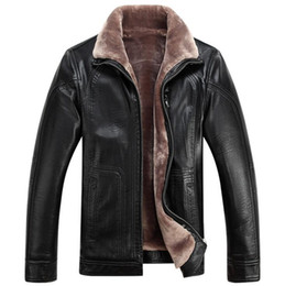 Wholesale Jacket Big Lapels - Mens Fur Jackets Winter Coats Warm Leather Jackets Thickening Big Size M-4XL Cashmere Outwear Overcoat Waterproof Good Quality