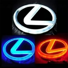 Wholesale Car Emblem Lights - 4D LED Car Logo Light Rear Back Car Badge Light Auto LED Emblem for Lexus