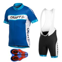 Wholesale Cycling Jersey Craft - 2017 New Craft Cycling Jerseys Set Summer Style Men MTB bike Ropa Ciclismo Cycling shirts +9D Gel Padded bib Shorts suits E2603