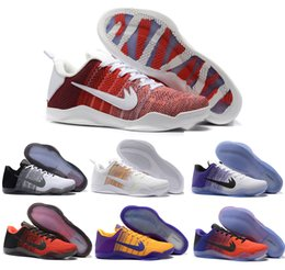 Wholesale Horse Basketball - High Quality Kobe 11 Elite Men Basketball Shoes Red Horse USA White Multicolor Bruce Lee Eulogy KB 11 Sports shoes Sneakers eur 41-46