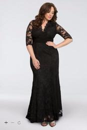 Wholesale Dresses Sirens - Mother of the Bride Dresses Screen Siren V-Neck Lace Plus Size Gown Sheath Ankle-Length Fashion Elegant Design Dresses 13130902