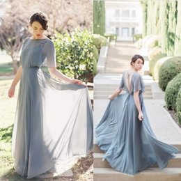 Wholesale Pricing Chart - Elegant Style Bridesmaid Dresses With Wrap Backless Floor Length Cheap Price Prom Dress Sexy Back Custom Made A Line Formal Cocktail Gown