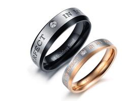 Wholesale Alternative Ring - Titanium steel jewelry Han edition alternative creative crystal diamond ring titanium steel lovers to buddhist monastic discipline