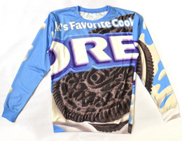 Wholesale Oreo Cookies - Wholesale-Alisister Funny OREO hoodie sweatshirt Printed Women Men milks favorite cookies sweatshirts fashion 3d Hoodies Pullover