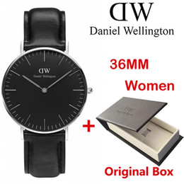 Wholesale Hot Selling Original - The New hot Selling Brand Swiss DW men 40mm women 36mm quartz watch ultra-thin luxury brand watches with Original box Relogio clocks