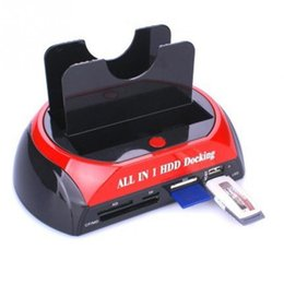 "Wholesale Hard Drive Docking Stations - Wholesale- Novelty USB 2.0 to 2.5"" 3.5"" SATA Multi-function HDD Docking Station All in One Card Reader Hard Drive with Power LED indicators"