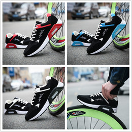 Wholesale Running Shoes Air Men S - Spring and summer men 's new mesh air - cushion sports shoes running shoes breathable student shoes
