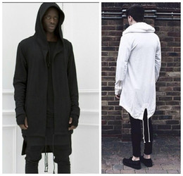 manteau à capuche noir Promotion Hoodies pour hommes Veste à capuche urbaine Hip Hop Blanc / Noir Manteau pour hommes Cape à capuchon Cape pour hommes à capuche
