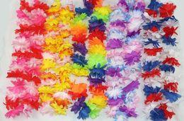 Wholesale Hawaii Products - New Arrive Party Supplies Silk Hawaiian Flower Lei Garland Hawaii Wreath Cheerleading Products Hawaii Necklace KLQ0021