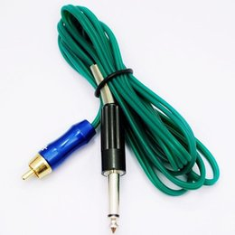 Wholesale Flexible Power Cord - Wholesale-Flexible Silicone 6 Feet Tattoo Machine Green Power Clip Cord Supply -- TP-X-040