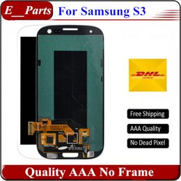 Wholesale Display S3 Original - For Samsung Galaxy S3 lcd Original quality AAA I9300 I9308 I9305 T999 i535 I747 LCD Display Digitizer Touch screen No Frame