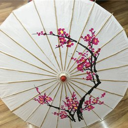 Wholesale Painted Umbrellas - Fine Art Silk Folding Umbrella Wedding Parasol For Dance Prop Canopy Assorted Colors With Hand-Painted Designs Modern Style Wedding Umbrella