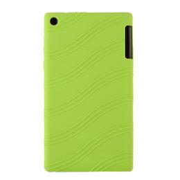 "Wholesale Lenovo Silicone - Wholesale-Fashion Ultra Slim Silicon Soft Cover Silicone Pouch Bag Case For Lenovo Tab 2 Tab2 A7-30 A7-30TC A7 30TC A7-30HC 7"" Tablet"
