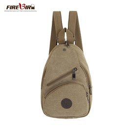 Wholesale Side Bags Men - Wholesale- JASON TUTU Men Women backpack Multifunction canvas backpack female small double-sided chest bag travel backpack FB1187