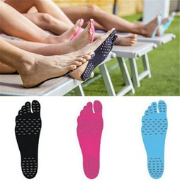 Argentina 2017 Summer Nakefit soles Invisible Beach Shoes Sticker Shoes Stick prezzo nakefit zapatos playa pies pies almohadillas nanómetro DHL libre Suministro