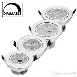 Wholesale Recessed Lights Bathroom - 9W 12W LED Downlight Dimmable Warm White Nature White Pure White Recessed LED Lamp Spot Light AC85-265V