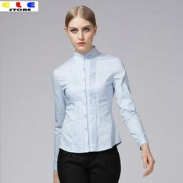Wholesale Womens White Formal Blouse - Spring 2016 Fashion Women Shirts Elegant Lace Patchwork Womens Shirt Tops Formal Blouses Ladies Office Casual Long Sleeve Blouse