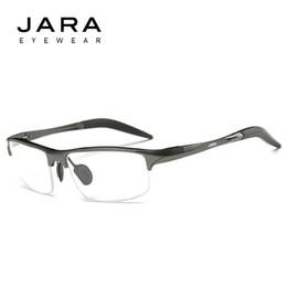 Wholesale Cycling Glasses Myopia - Wholesale- JARA Glasses Men Computer UV Glasses Fatigue Radiation Optical Eyeglasses Myopia Aluminum Frame Cycling Eyeglass Frame Eyewear