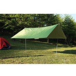 Discount sun shelter canopy - Wholesale- 3mx3m Waterproof Sun Shelter Tarp Survival Camping Climbing Outdoor Tent Patio Sun Shade Awning Canopy Garden tent Shade