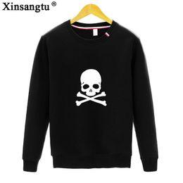 Wholesale Skull Head Sweater - 2017 Round Neck Long Sleeve European Human Skeleton Head Printing Body Suit-dress Sweater